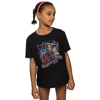 Marvel Girls Guardians Of The Galaxy Neon Star Lord T-Shirt