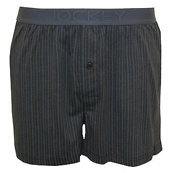 Jockey gestreepte katoen modale Jersey Boxer korte, grijs