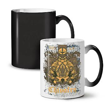 Chivalry Knight NEW Black Colour Changing Tea Coffee Ceramic Mug 11 oz | Wellcoda