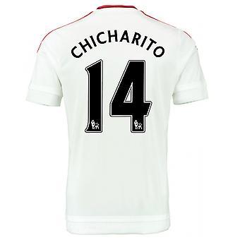 2015-2016 Man Utd Away Shirt (Chicharito 14) - Kids