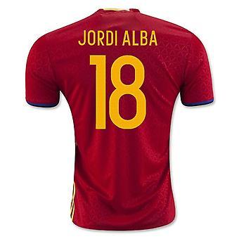 2016-2017 İspanya Ev Gömlek (Jordi Alba 18)