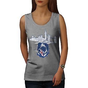 Pitbull England UK Dog Women GreyTank Top | Wellcoda