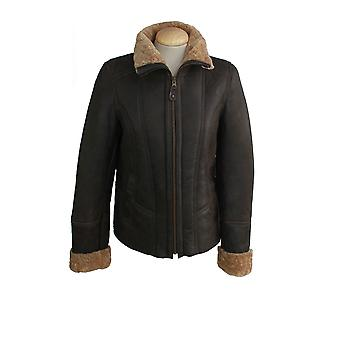 Eastern Counties Leather Womens/Ladies Orlando Aviator Sheepskin Coat