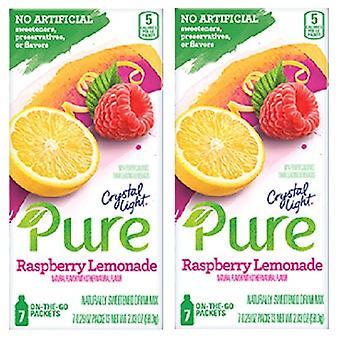 Valo puhdasta Vadelma limonadi juoma sekoitetaan 2 Box-paketti