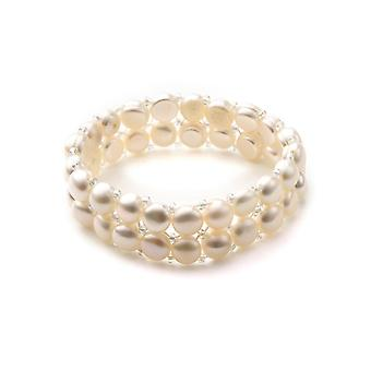 Stretch rannekoru 2 riviä Naiset helmiä valkoinen kulttuuri