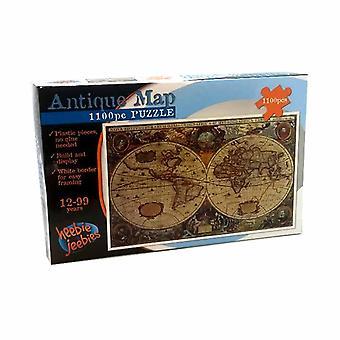 Bouwen & antieke kaart kunststof puzzel Set weergeven