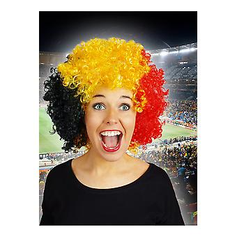 Supporters articles and musical instruments  Belgium jumbo Afro wig