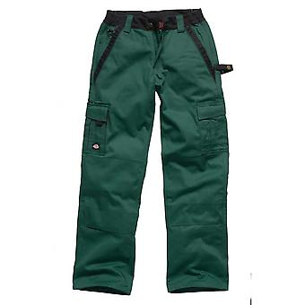 Dickies Mens industry 300 Two Tone Workwear Trousers Green IN30030G