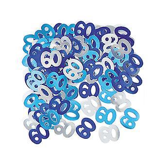 Verjaardag Glitz Blue - 60e verjaardag Confetti