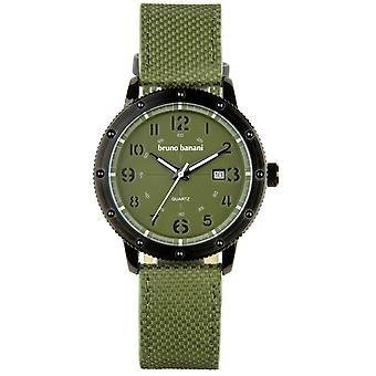 Relógio de pulso relógio de Bruno Banani da GEROS couro analógico BR30005