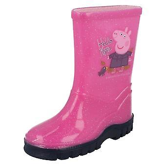 Girls Peppa Pig Wellingtons Hello Peppa