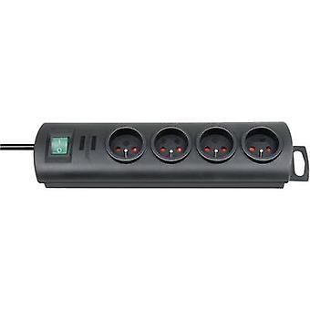 Brennenstuhl 1153304124 Zásuvkový proužek (+ spínač) 4x černý FR konektor 1 ks