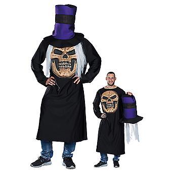 Crazy horror skull mens costume Halloween bones