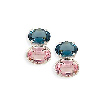 Multicolor earrings with crystals from Swarovski 483