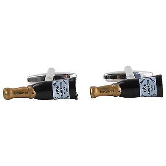 Zennor Champagne Bottle Cufflinks - Black/Gold
