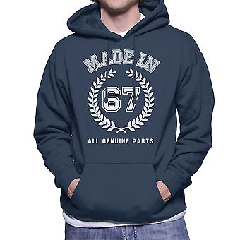 Made In 67 All Genuine Parts Men's Hooded Sweatshirt