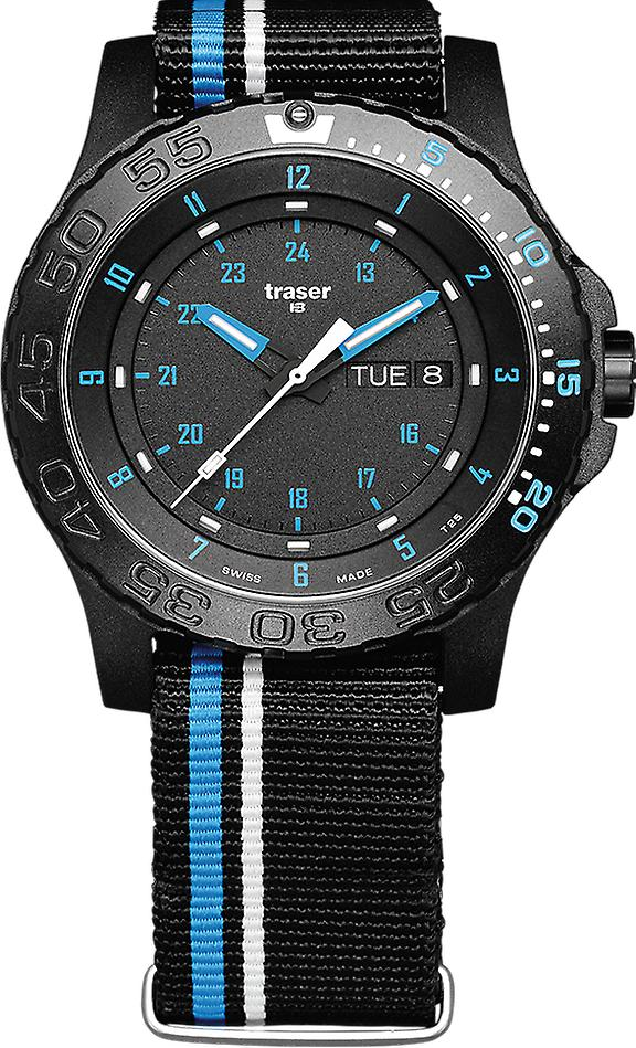 Traser P66 Tactical Mission Blue Infinity Men's Watch 105545