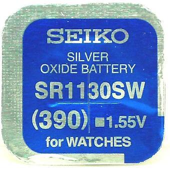 セイコー 390 (sr1130sw) 1.55 v 酸化銀 (0 %hg) 水銀フリーの時計の電池 - 日本製