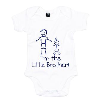 I ' m a Little Brother fehér kék Baby Grow