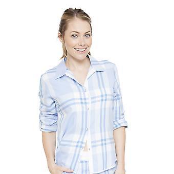 Amelia Blue Plaid pijama Top Cyberjammies 4058 Femenil