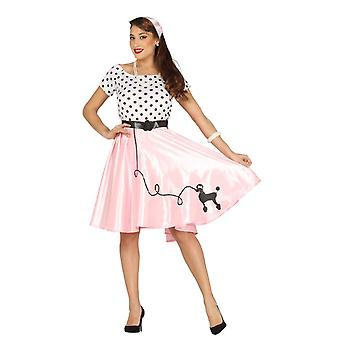 Womens jaren 1950 poedel Girl Fancy Dress kostuum