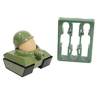 Egg-Splode Set Eierbecher & Toastschneider grün, aus Kunststoff