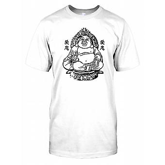 De gouden buik - grappige Big Buddha heren T Shirt