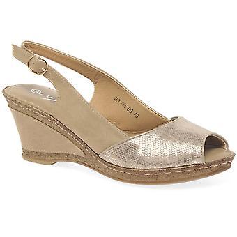 Lunar (GRS) Barnes Womens Wedge Heel Sandals