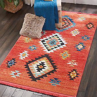 Navajo Nourison NAV07 Red  Rectangle Rugs Traditional Rugs