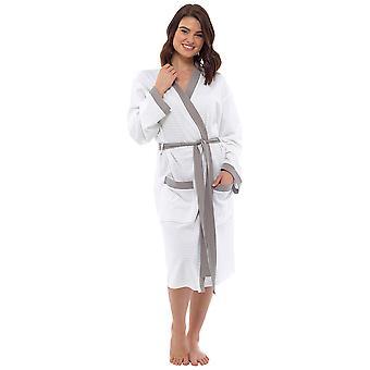 Socks Uwear 100% Cotton Stoll Waffle Wrap Over Bathrobe Dressing Gown