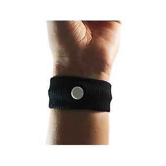 Comfort Aid Bracelets Against Nausea - Black - Anti-nausea Motion Sickness Relief Wristbands - Great for Controlling Nausea Morning Sickness