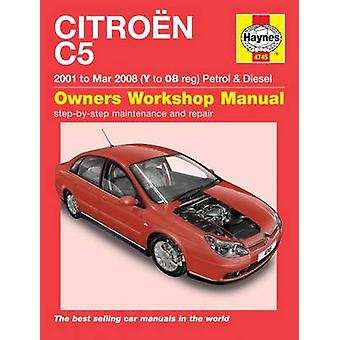 Citroen C5 Owners Workshop Manual by Anon - 9781785213496 Book