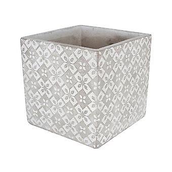 Concrete Pot Square Tuscan Design