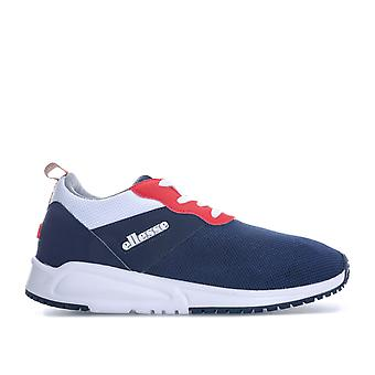 Womens Ellesse Siena Trainer in Navy White-Lace Up Closure-Padded Collar And