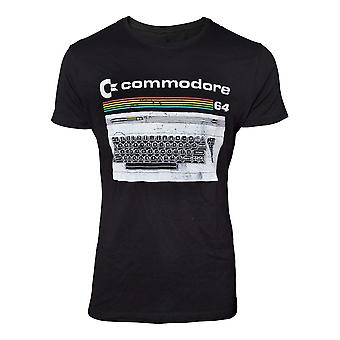 Bioworld Official Mens Commodore 64 Classic Keyboard Crew Neck T-Shirt X-Large