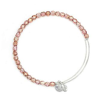 Alex and Ani Blush Rock Candy Beaded Silver Bangle BBEB179S