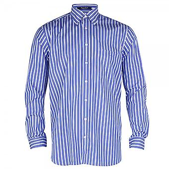 Gant Regent Poplin Stripe Shirt - Sea Blue
