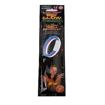Super Farbe Big Glow - Glühen Triple Armband