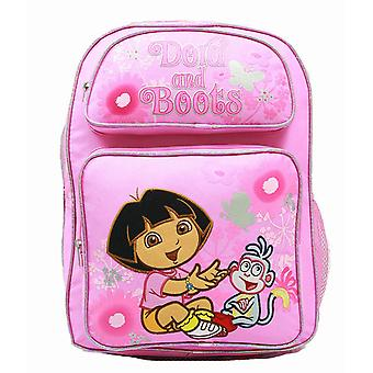 Backpack Dora the Explorer Laughing w/Boots Flowers (Large Bag) 37680