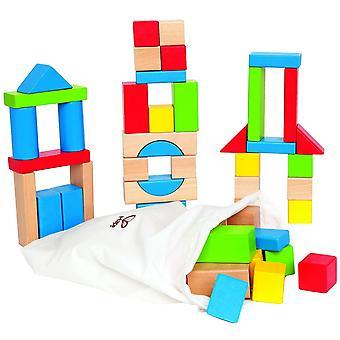 Hape E0409 Maple Block Set (50 Pieces)