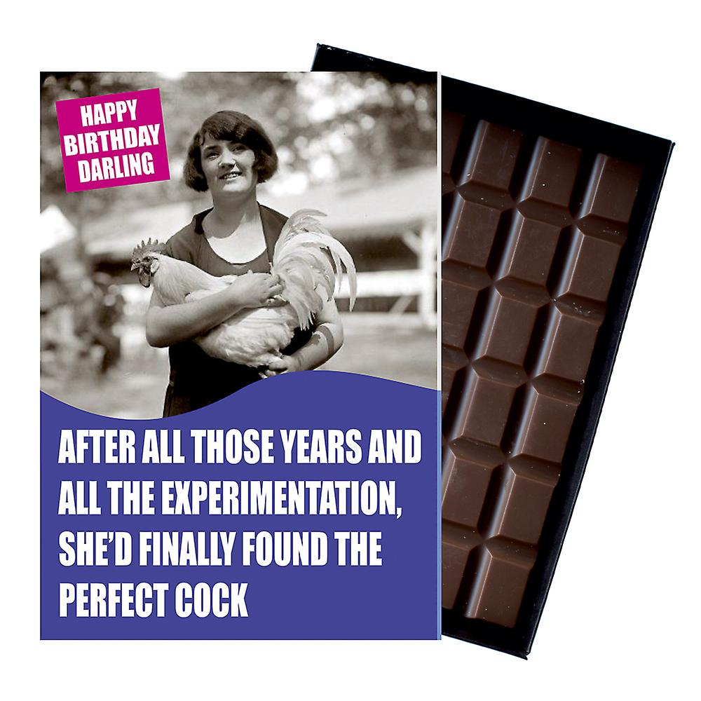 Funny Birthday Gift For Women Friend Or Girlfriend boxed Chocolate Greeting Card Present CDL151
