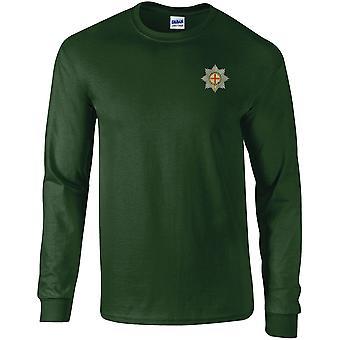 Coldstream Guards-lisensoitu Britannian armeijan kirjailtu pitkähihainen T-paita