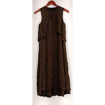 H by Halston Dress Fly Away Midi Shirt Dress Green A286033