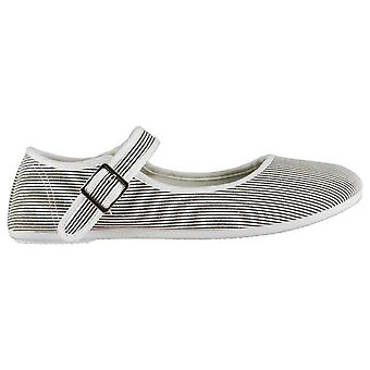 Slazenger Womens Canvas Mary Jane Shoes Pumps Buckle Fastening Lightweight Low