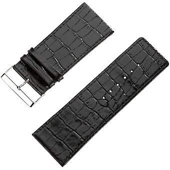 Pure grey Watch Unisex ref. 71S-Genf 3/2 36/34 Krokooptik Schwarz