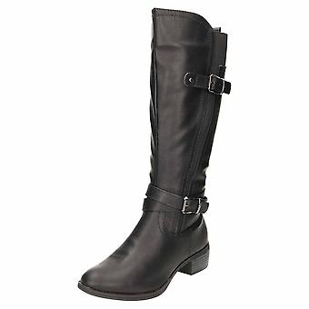 Comfort Plus Wide E Fit Flat Knee Boots