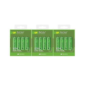 GP ReCyko+ 1300mAh AA Batteries (12 Pack)