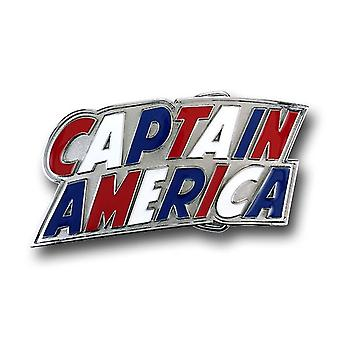 Captain America Red White & Blue Logo Belt Buckle