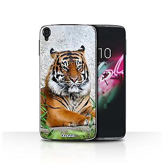 STUFF4 Case/Cover for Alcatel Idol OneTouch 3 5.5/Tiger/Wildlife Animals
