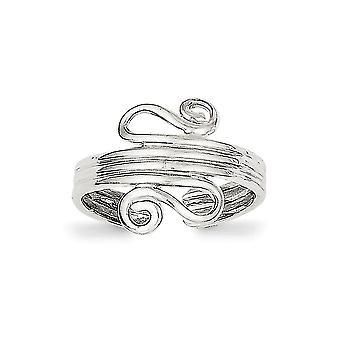 925 Sterling Silber solid poliert Scroll Toe Ring Schmuck Geschenke für Frauen - 2,0 Gramm